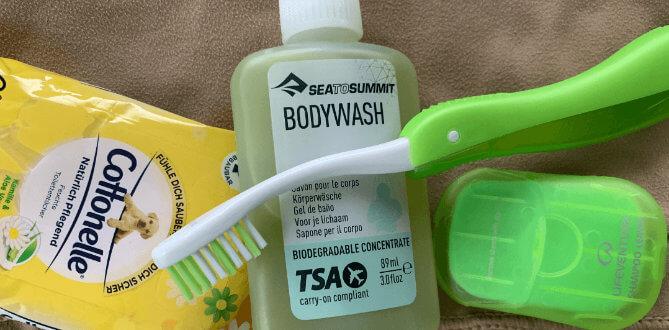 Hygieneartikel beim Bikepacking